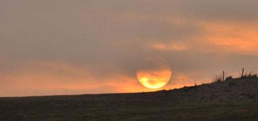 Zjawiskowy zachód słońca